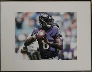 Baltimore Ravens Lamar Jackson Framed Photo