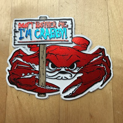 Maryland I'm Crabby Magnet White