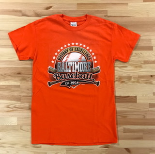 Wild Bill's Baltimore Baseball History T-Shirt