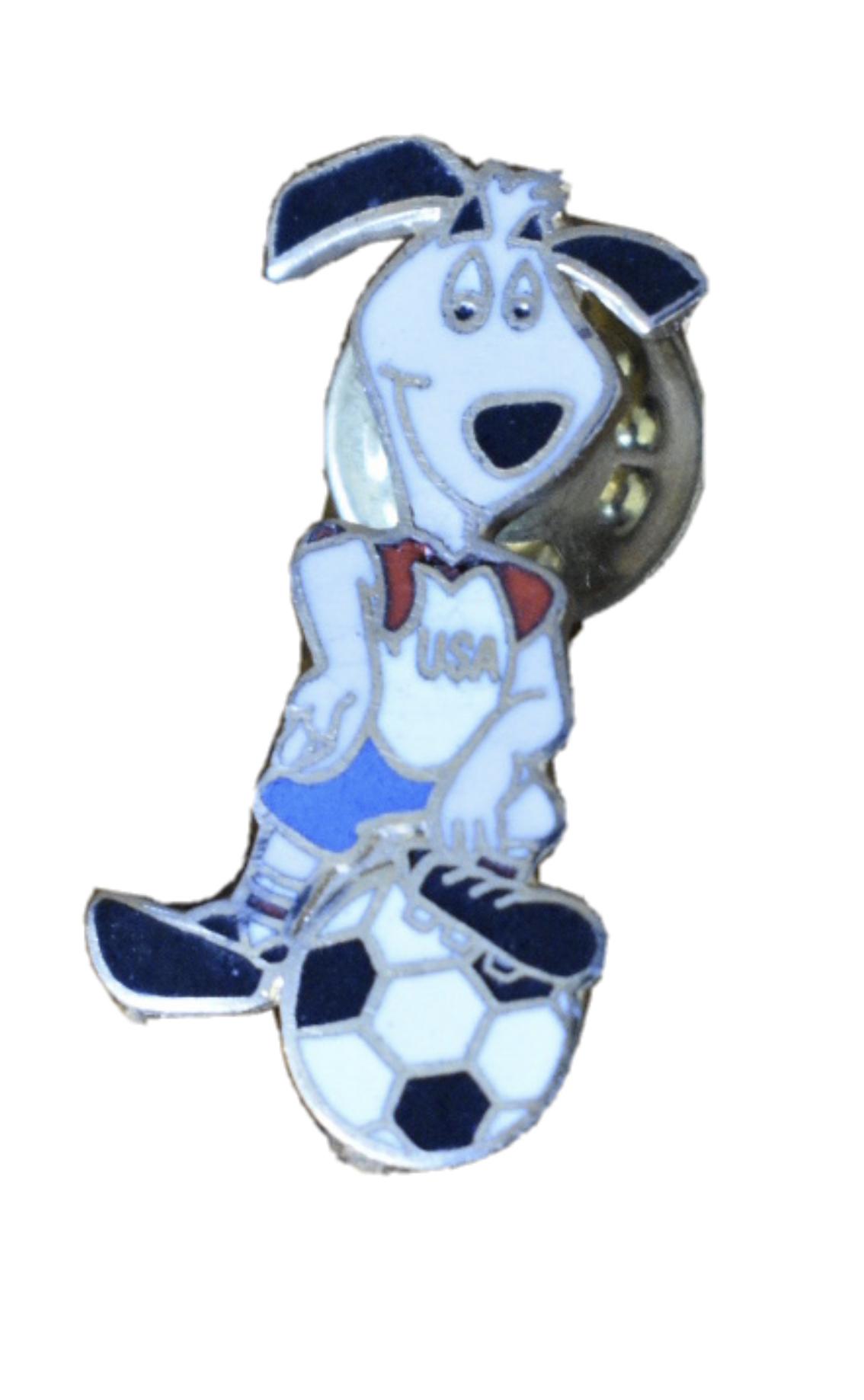 Striker World Cup Pup Mascot Pin 1994