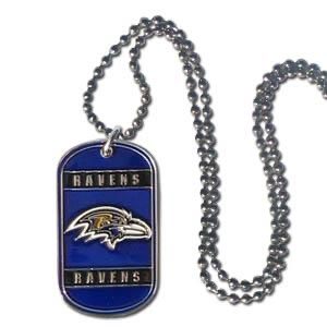 Baltimore Ravens Key Tag Necklace