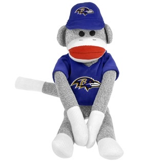 Baltimore Ravens Sock Monkey