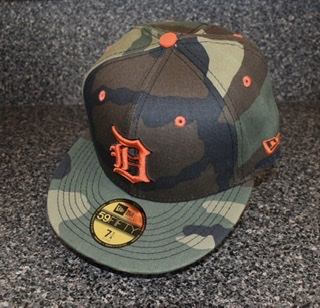 Detroit Tigers 39Thirty Green Camo Hat