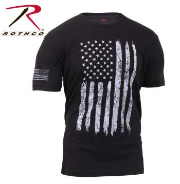 Rothco Athletic Fit Distressed US Flag T-Shirt