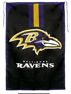 Baltimore Ravens Fan Flag