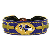 Baltimore Ravens Team Color Football Bracelet