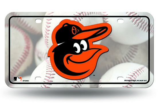 Baltimore Orioles Metal License Plate