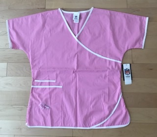 Baltimore Ravens Ladies Pink Scrub Top