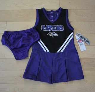 Baltimore Ravens Girls 2pc Cheerleader Set