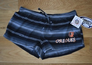 Baltimore Orioles Ladies Nuance Striped Shorts