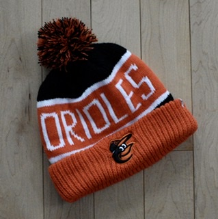 Baltimore Orioles Pom Knit By '47