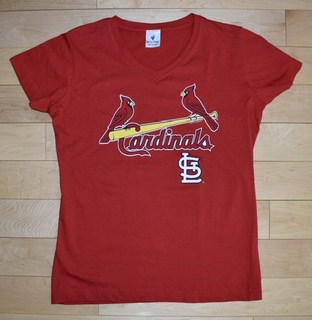 St. Louis Cardinals Ladies V-Neck T-Shirt