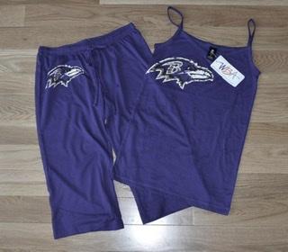 Baltimore Ravens Ladies Burnout V-Neck Tank & Crop Pant Sleepwear Set