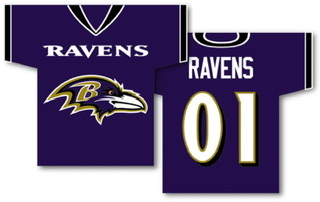 Baltimore Ravens 2-Sided Jersey House Flag