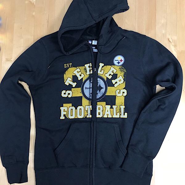 Pittsburgh Steelers Ladies Zippered Hooded Sweatshirt