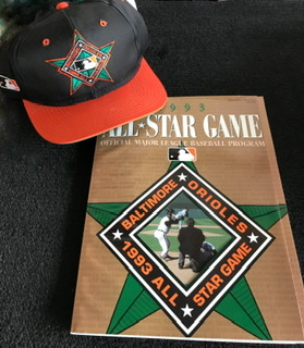 1993 All Star Game Program & Hat