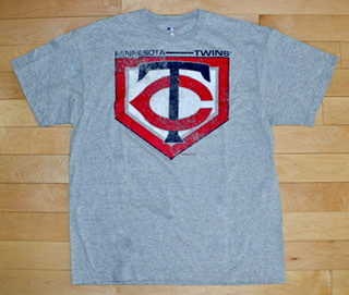 Minnesota Twins Athletic Gray Men's T-Shirt