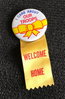 """I Care About Our Troops Pinback 2"""" Button"""