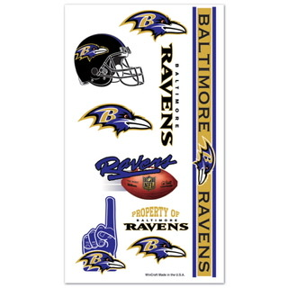 Baltimore Ravens Temporary Tattoos