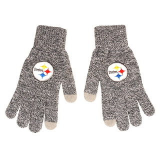 Pittsburgh Steelers Gray Knit Texting Gloves