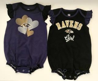 Baltimore Ravens Girls 2pc Creeper Set