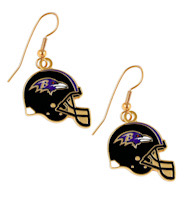 Baltimore Ravens Helmet Earrings