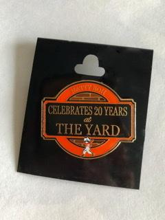 20th Anniversary At Camden Yards Collectible Pin