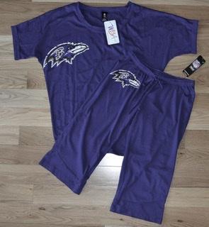 Baltimore Ravens Ladies Dolman & Crop Pant Burnout Sleepwear Set