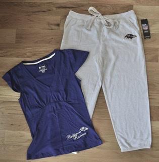 Baltimore Ravens Luxe Capri Pajama Set