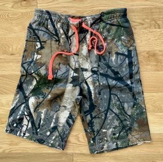 U.S. Vintage Authentic Wear Young Men's Camo Fleece Shorts