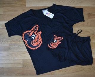 Baltimore Orioles Ladies Burnout Sleepwear Short Set