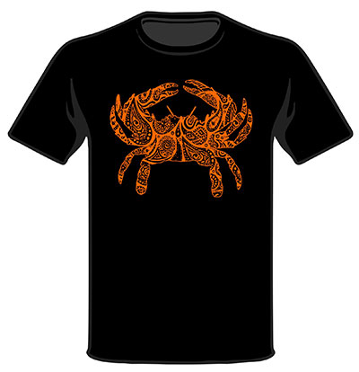 Wild Bill's Paisley Crab Black T-Shirt