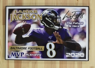"Baltimore Ravens ""The Future Is Here"" Lamar Jackson Poster"