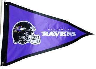 Baltimore Ravens 3x5 Pennant Flag