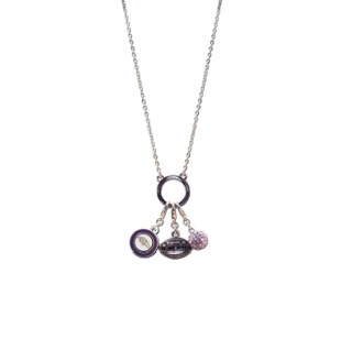 Baltimore Ravens 3 Charm Necklace