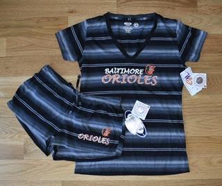 Baltimore Orioles Nuance Striped T-shirt & Short Set