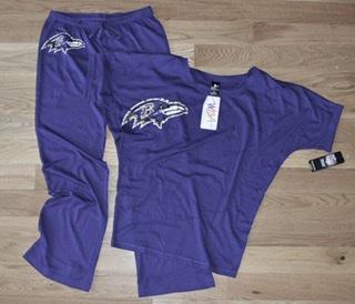 Baltimore Ravens Ladies Purple Burnout Sleepwear Ensemble