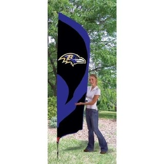 Baltimore Ravens Tall Team Feather Flag