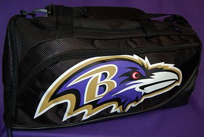 Baltimore Ravens Large Black Duffle Bag