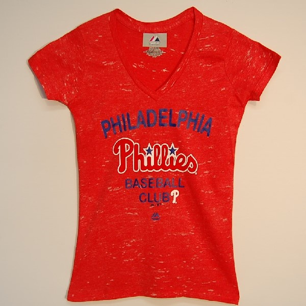 Phillies Ladies V-Neck T-Shirt