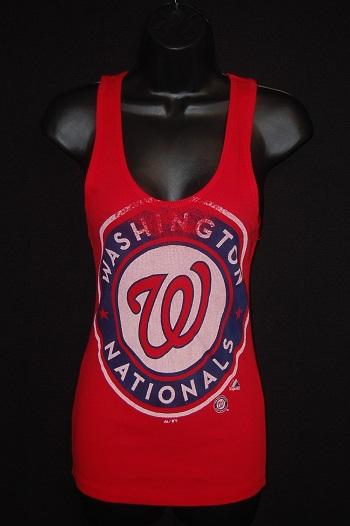 Washington Nationals Ladies Ribbed Tank Top