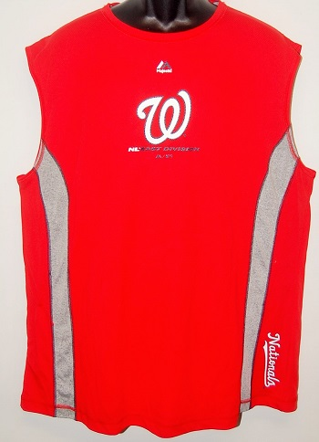 Washington Nationals Men's Sleeveless Performance Shirt