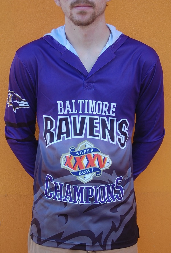 Baltimore Ravens Super Bowl XXXV Commemorative Hooded Shirt