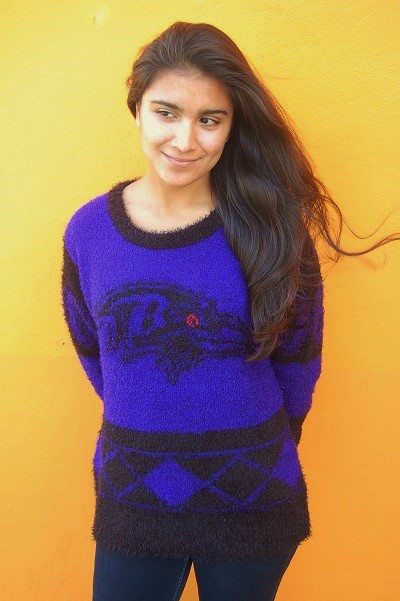 Baltimore Ravens Eyelash Sweater