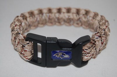 Baltimore Ravens Natural Camo Survival Bracelet