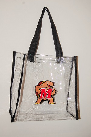 Maryland Terps Clear Tote Bag