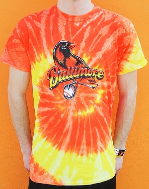 The Bird Orange Tie Dye T-Shirt