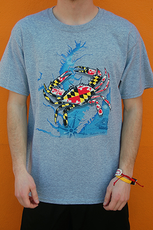Maryland Crab T-Shirt By Wild Bill's