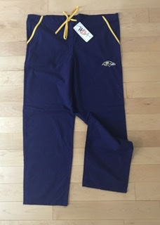 Baltimore Ravens Team Color Scrub Pants