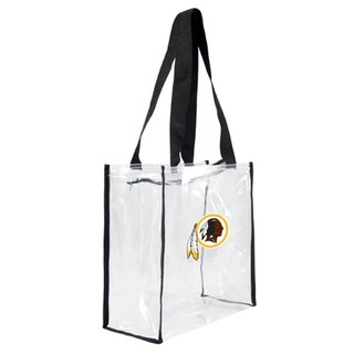 Washington Redskins Clear Zippered Tote Bag